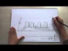 Embedded thumbnail for How to draw a Titanic