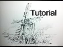 embedded thumbnail for how to draw a dutch windmill