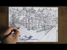 Embedded thumbnail for how to draw a town scene