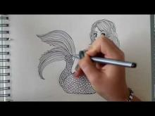 Embedded thumbnail for How to draw a Mermaid - step by step