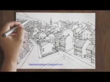 Embedded thumbnail for how to draw a town in perspective....must see