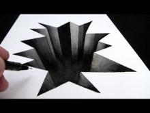 Embedded thumbnail for How to Draw a Hole in Paper: 3D Narrated Trick Art