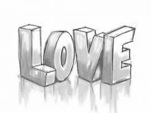 Embedded thumbnail for How to Draw 3D LOVE Graffiti
