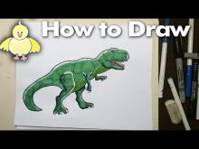 Embedded thumbnail for How to draw a T-Rex Dinosaur Step by Step