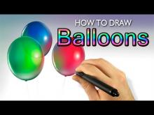 Embedded thumbnail for How To Draw Balloons