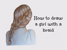 Embedded thumbnail for How to draw a girl with a braid