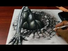 Embedded thumbnail for Drawing 3D Demon