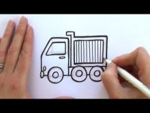 Embedded thumbnail for How to Draw a Cartoon Dump Truck