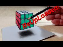Embedded thumbnail for Drawing Levitating 3D Rubik's Cube