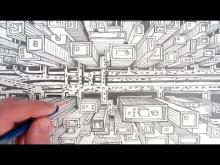 Embedded thumbnail for How to Draw a City using One Point Perspective: A Bird's Eye View