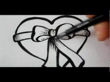 Embedded thumbnail for How To Draw A Heart & Bow