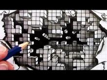Embedded thumbnail for How to Draw an Optical Illusion: Falling Cubes 3D