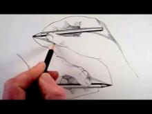 Embedded thumbnail for How to Draw a Hand Drawing a Hand: Narrated Step by Step