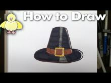 Embedded thumbnail for How To an Easy Pilgrim Hat Step by Step