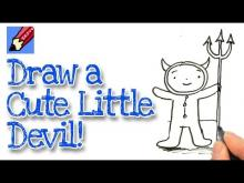Embedded thumbnail for How to draw a cartoon Mini Devil for Halloween