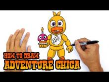 Embedded thumbnail for How to Draw Adventure Chica (FNAF World)- Easy Art Lesson