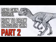 Embedded thumbnail for How To Draw Velociraptor Skin