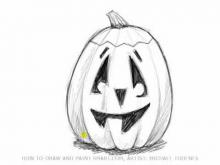Embedded thumbnail for How to Draw a Pumpkin