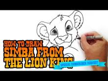 Embedded thumbnail for How to Draw Simba from Lion King- Step by Step