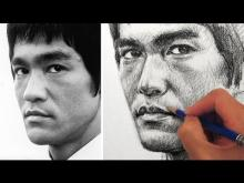 Embedded thumbnail for How to Draw a Portrait of Bruce Lee
