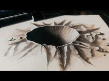 Embedded thumbnail for Drawing a 3D Crater - 3D Hole