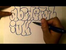 Embedded thumbnail for how to draw graffiti alphabet
