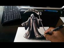 Embedded thumbnail for Drawing 3D Grim Reaper