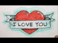 Embedded thumbnail for How to Draw Heart with Banner