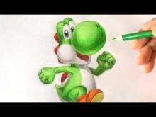 Embedded thumbnail for How to draw Yoshi 3D