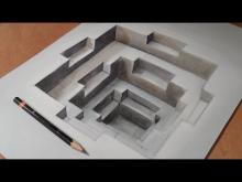 Embedded thumbnail for Drawing Awesome 3D Hole, Long Version