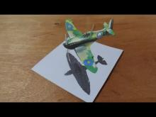 Embedded thumbnail for How I Draw a 3D Spitfire, Flight Illusion