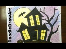 Embedded thumbnail for How To Draw a Haunted House, step by step - easy!