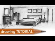 Embedded thumbnail for Drawing tutorial - room in two point perspective