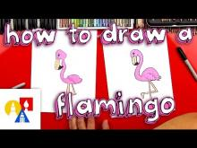 Embedded thumbnail for How To Draw A Cartoon Flamingo