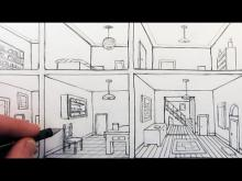 Embedded thumbnail for How to Draw a Room in One-Point Perspective in a House