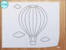 Embedded thumbnail for How to draw air balloon