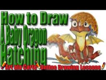 Embedded thumbnail for How to draw a Baby Dragon Hatching from an egg