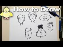 Embedded thumbnail for How To Draw Easy Cartoon Faces Step by Step