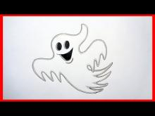 Embedded thumbnail for How to draw a ghost, Halloween stuff