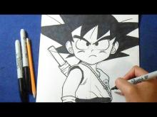 "Embedded thumbnail for How to draw Goku Child ""Dragon Ball"""