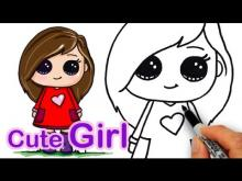 Embedded thumbnail for How to draw a Girl Easy and Cute