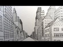 Embedded thumbnail for How to Draw a City Street in One Point Perspective: Narrated