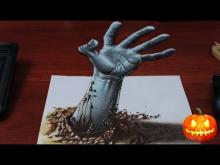 Embedded thumbnail for Drawing a 3D Zombie Hand