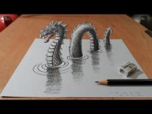 Embedded thumbnail for Drawing 3D Loch Ness Monster, Long Version