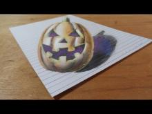 Embedded thumbnail for Halloween Pumpkin, Draw 3D Pumpkinhead