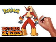 Embedded thumbnail for How to Draw Blaziken (Pokemon)- Step by Step