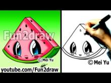 Watermelon Drawing For Kids