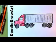 Embedded thumbnail for How To Draw An 18- Wheeler Transport Truck