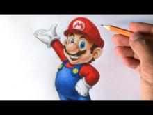 Embedded thumbnail for How to draw Super Mario 3D