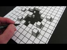 How to draw 3D and optical illusions step by step . Drawings ideas ...